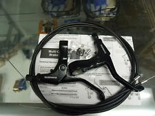 SHIMANO BL-R550 FLAT BAR ROAD BLACK BICYCLE CANTI CALIPER BRAKE LEVERS W/ CABLES