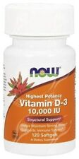 Now Foods, Vitamin D3, 10000 IU x120 Softgels;- BONE HEALTH - IMMUNITY
