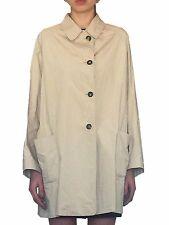 JIL SANDER Oversized Trench Coat SIZE L Lightweight Beige Jacket Vintage 90s