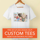 Your Custom Picture photo on T-Shirts shirt Personalized S M L XL 2X 3X 4X 5X