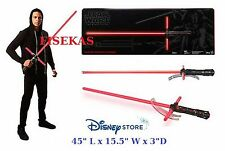 Disney Store Star Wars Kylo Ren Force FX DLX Lightsaber Red Light Saber 2015 NEW