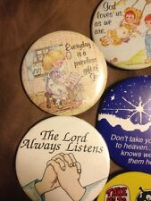 19 lot buttons and Pins including Christian, Pop Culture, Slogans