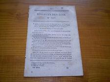 Bulletin des lois an:Tarifs poste aux chevaux.Pont suspendu Aiguilly & Moussac