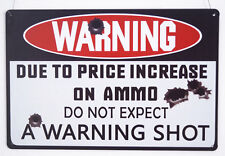 Man Cave Warning Gun Shot Poster Vintage Metal Tin Signs Home Pub Bar Decor