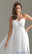 Night Moves by Allure 6424 White  Size 8 -Prom-Military Ball-Wedding