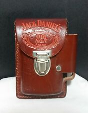 Vintage 1970's Jack Daniels Leather Cigarette & Lighter Holder Belt Pouch