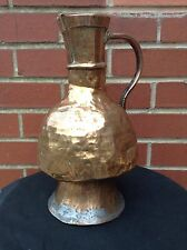 Vintage Large Slightly Battered Brass Jug Vase - Charm And Charisma