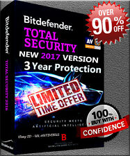 Bitdefender Total Security 2017 3 YEAR 1 USER PRE ACTIVATED / NO KEY / NO CD