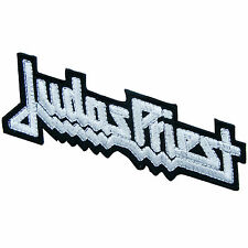 Judas Priest White Logo Sew Embroidered Iron-On Patches Jacket T Shirt Cap #S053