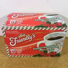 FRIENDLY'S Peppermint Stick Flavored Keurig COFFEE K-CUPS Partial KCUP BOX of 8
