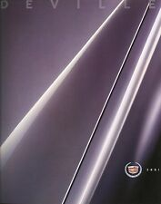 2001 Cadillac Deville DHS DTS Deluxe Sales Brochure w/Paint & Interior Chips
