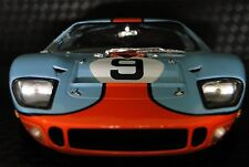 GT40 1966 Ford Sport Race Car GT SportsCar 1 18 Rare Exotic Vintage Carousel Red