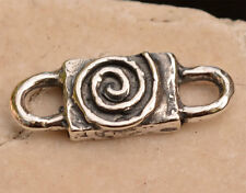 Chunky Spiral Connector Link in Sterling Silver 358d