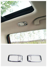2*Chrome Rear reading light Lamp cover trim for Nissan Rogue X-Trail 2014-2016