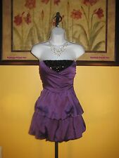 NWT  bebe 2b Wrap Front Sequin Strapless Dress Size M