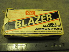 CCI BLAZER 357 Magnum Ammo Box, EMPTY BOX NO BRASS OR AMMO