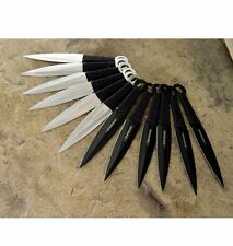 "12pc SET Naruto Kunai 6"" THROWING KNIVES Ninja Knife Dagger w/Sheath TKN12"