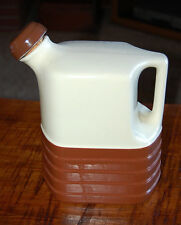 Vintage 1930's? Ceramic Two-Tone Water Jug Pitcher with a Corked Stopper Lid