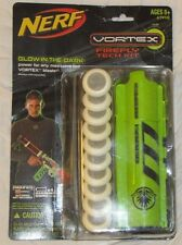 NERF FIREFLY TECH KIT GLOW-IN-THE-DARK A1448 VORTEX BLASTER DISK SHOOTER GUN!!!!
