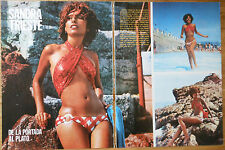 SANDRA TRIESTE 2 page 1974 article sexy model photos magazine clippings