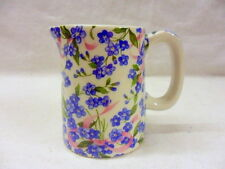 forget me not chintz mini cream jug pitcher jug by Heron Cross Pottery