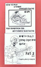 2 CD Set # 4 & 6 for 3 String Cigar Box Guitar Keni Lee video lesson Save $8