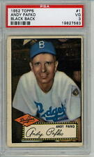 1952 Topps # 1 Andy Pafko Brooklyn Dodgers PSA 3 BLACK BACK