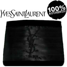 100%AUTHENTIC Exclusive YSL COUTURE BLACK VELVET&SATIN SIGNATURE LOGO Clutch BAG