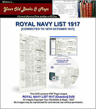 Royal Navy List 1917 WW1 DVD