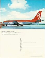 Avianca Airlines issued Boeing 720-B  postcard
