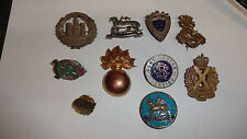 Job Lot/Collection Of WW1/WW2 & Later Sweetheart Lapel & Pin Badges Lot 3
