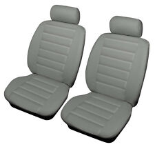 VW POLO 81-07 GREY Front Leather Look SPORT Car Seat Covers Airbag Ready
