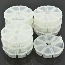 BF Nail Art Empty Round Wheel Jewelry Pill Nail Art Storage Ring Case Box #215