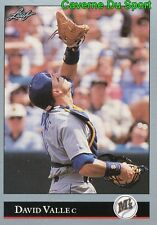 170   DAVE VALLE    SEATTLE MARINERS  BASEBALL CARD LEAF 1992