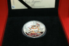 Laos 2012 -1000 Kip Year of the Dragon Lunar Proof Silver Coin - Color