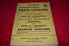 International Harvester  T-5 TD-5 T-4 Series B Tractor Dealer's Parts Book ABPA