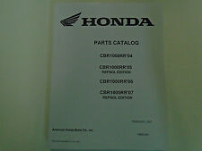 2004 2005 2006 2007 HONDA CBR1000RR REPSOL Edition PARTS Catalog Manual Book