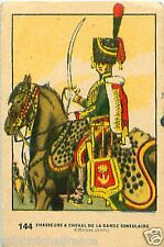 CHASSEURS A CHEVAL GARDE CONSULAIRE  IMAGE CARD 1950 COSTUME MILITAIRE