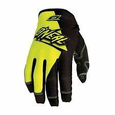 O'neal Jump MTB DH FR Mountain Bike Full Finger Glove Flow Black Yellow Small