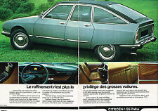 PUBLICITE ADVERTISING 104  1974  CITROEN  GS PALLAS   ( 2 pages)