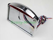 Chrome Tail Light Side Mount License Plate Bracket Rear Axle For Harley Custom