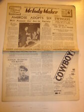 MELODY MAKER 1937 FEBRUARY 13 AMBROSE SWINGERS BBC TEDDY FOSTER ELIZALDE