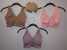 "Rhonda Shear 3-pack ""Ahh"" Bra with Removable Pads-Vintage-Large-New"