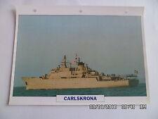 CARTE FICHE NAVIRES DE GUERRE CARLSKRONA 1980 MOUILLEUR DE MINES