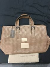 BNWT Authentic Bottega Veneta Mens Brown Light Calf Tote Bag Travel Weekender