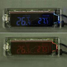 Autothermometer/Thermometer f. Auto 12V/24V Innen/Außen transparent Neu