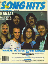 4/78 SONG HITS magazine  KANSAS  Kenny Rogers  Barry White