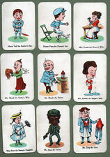 Old British cardgame playing cards incredible images By Chad valley  #052