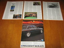 Morgan three wheeler Matchless Super Sports article also Peugeot 505 GTi Advert