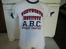 Wentworth Institute Technology W.I.T. Mass vintage ringer t shirt Champion 1980s